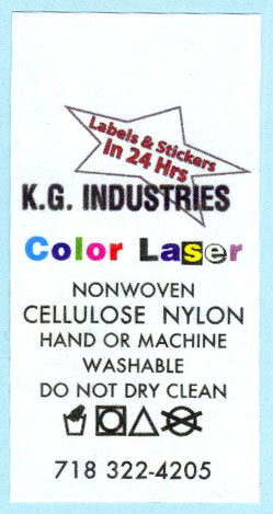 Laser cellulose nylon care label.
