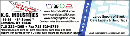 We can print your barcodes on stickers or hang-tags. We also print on woven ribbon fabric and nonwoven washable paper. Specialize in short run variable data services.