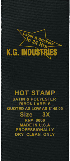 Hot stamped label.