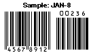 JAN-8 sample barcode