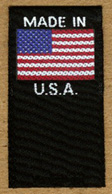 Made in USA with USA flag